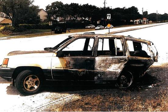 jeep burned