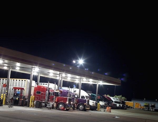 truck stop at night 2